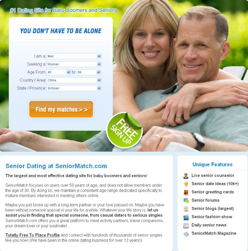 Totally free senior dating sites